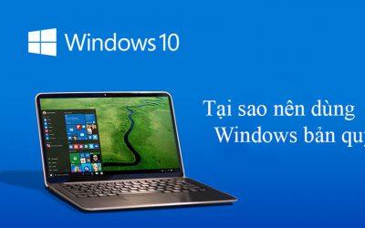 Nhận biết Windows bản quyền