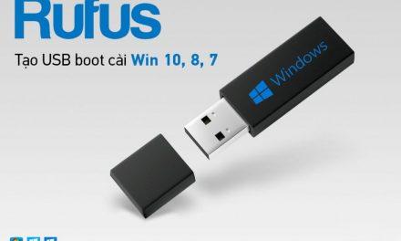 Rufus – Công cụ tạo USB boot nhỏ gọn